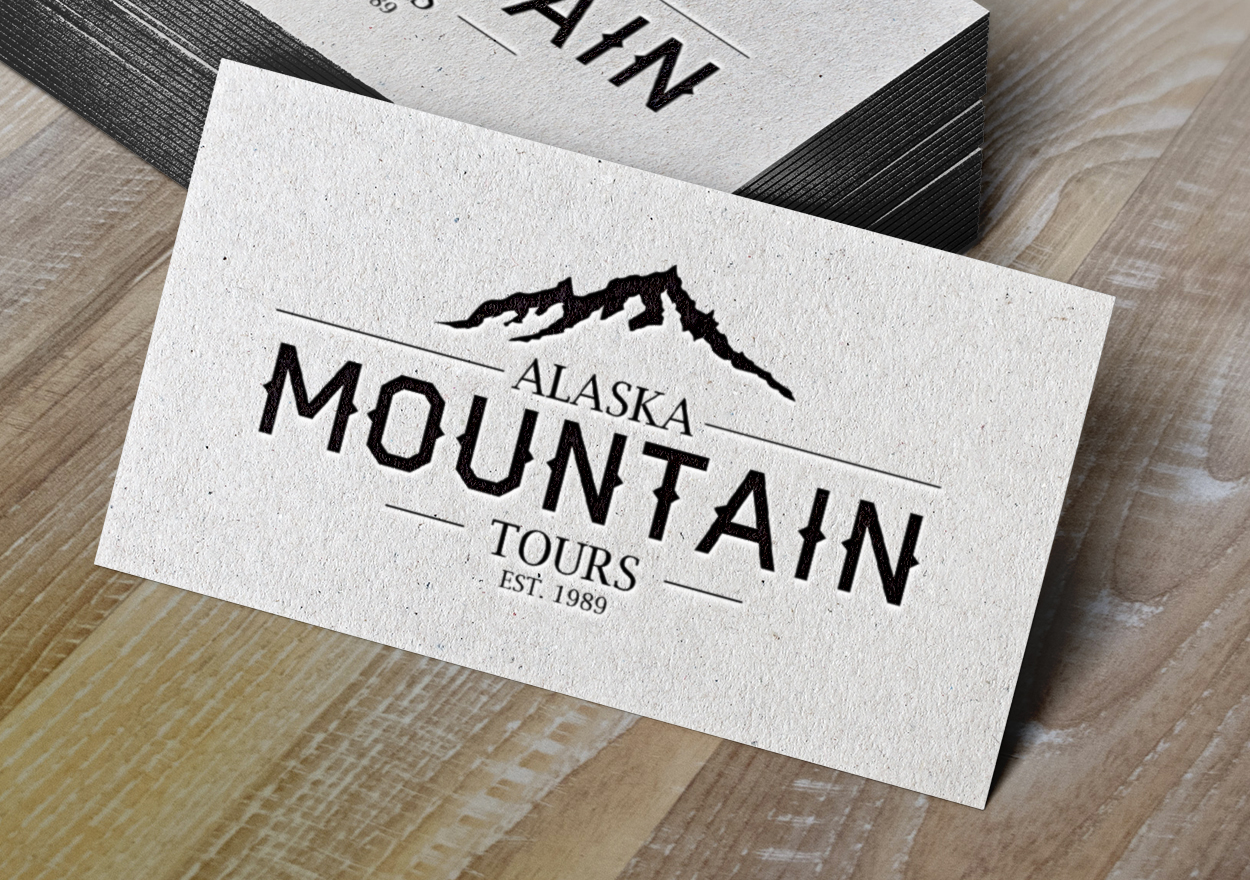 Letterpress business cards alaska mtn alaska mountain tours business cards letterpress colourmoves Image collections