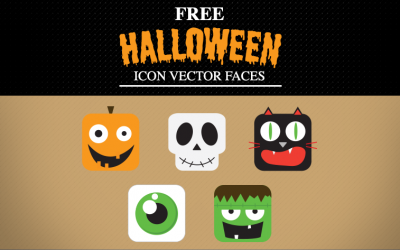Free Halloween Vector Faces