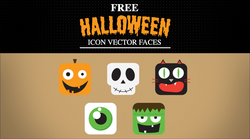 Free Halloween Vector Faces