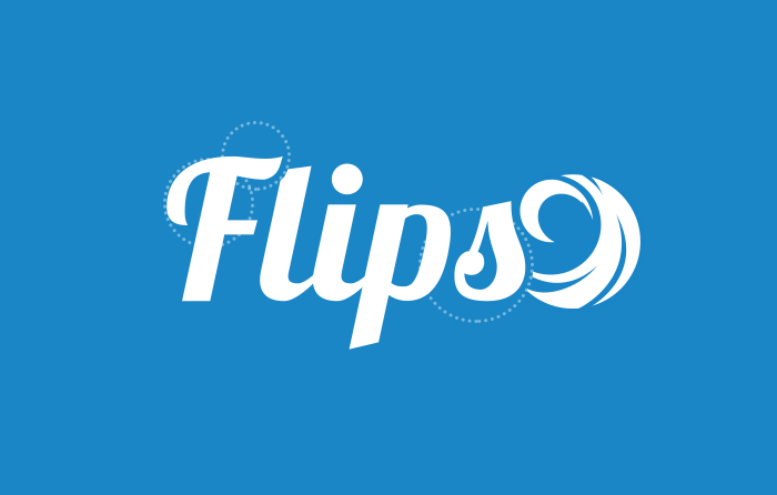 Flips main text logo with rip-curl