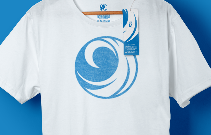 Flips rip-curl logo on t-shirt